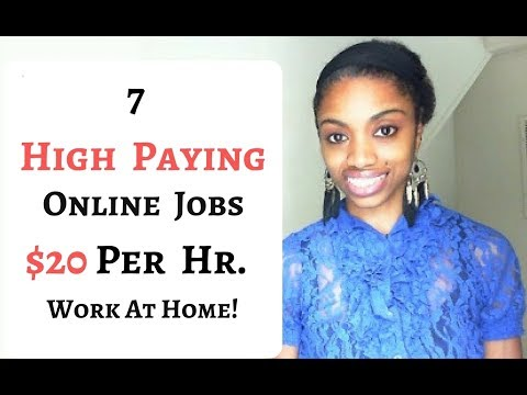 7 Online Jobs Paying $20 Per Hour Or More!