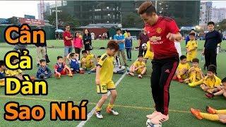 Thử Thách Bóng Đá Đỗ Kim Phúc hóa Cristiano Ronaldo 1 chấp cả đội cầu thủ nhí Việt Nam
