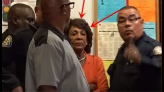 MAXINE WATERS RUNNING FROM TRUMP SUPPORTERS AT TOWN HALL APPEARANCE! thumbnail