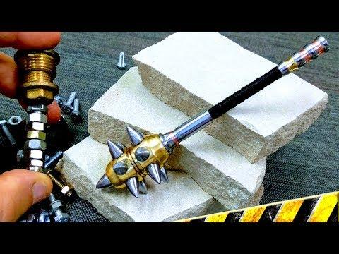 Como Hacer MAZA MEDIEVAL en Miniatura con Tuercas y Tornillos