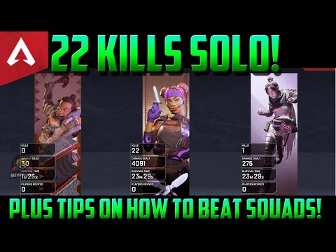 Apex Legends Tips On How To Beat Squads When Solo | 22 kill gameplay analysis