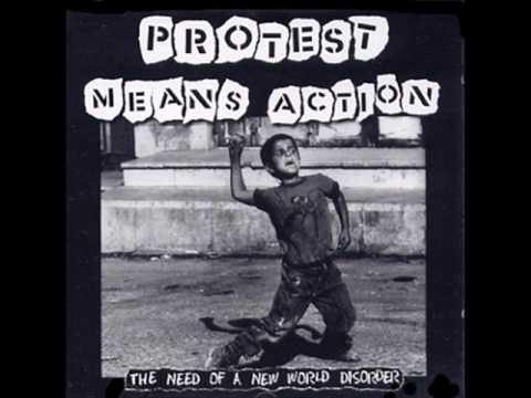 Protest Means Action The Need Of A New World Disorder - Crucifix tribute