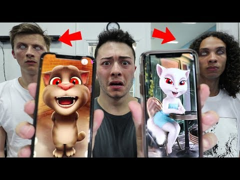 SCARY CALLING TALKING TOM AND TALKING ANGELA AT 3 AM!! *THEY ARE HERE*