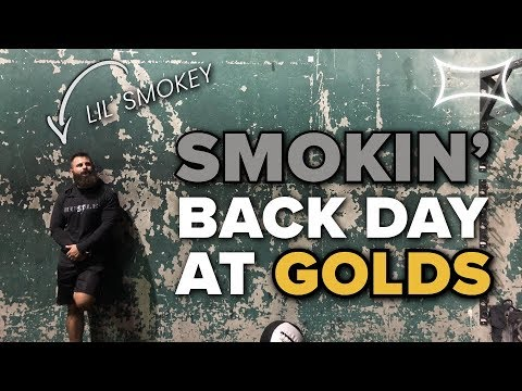 SMOKIN' BACK DAY AT GOLDS GYM VENICE - Lil' Smokey's First Time at Golds