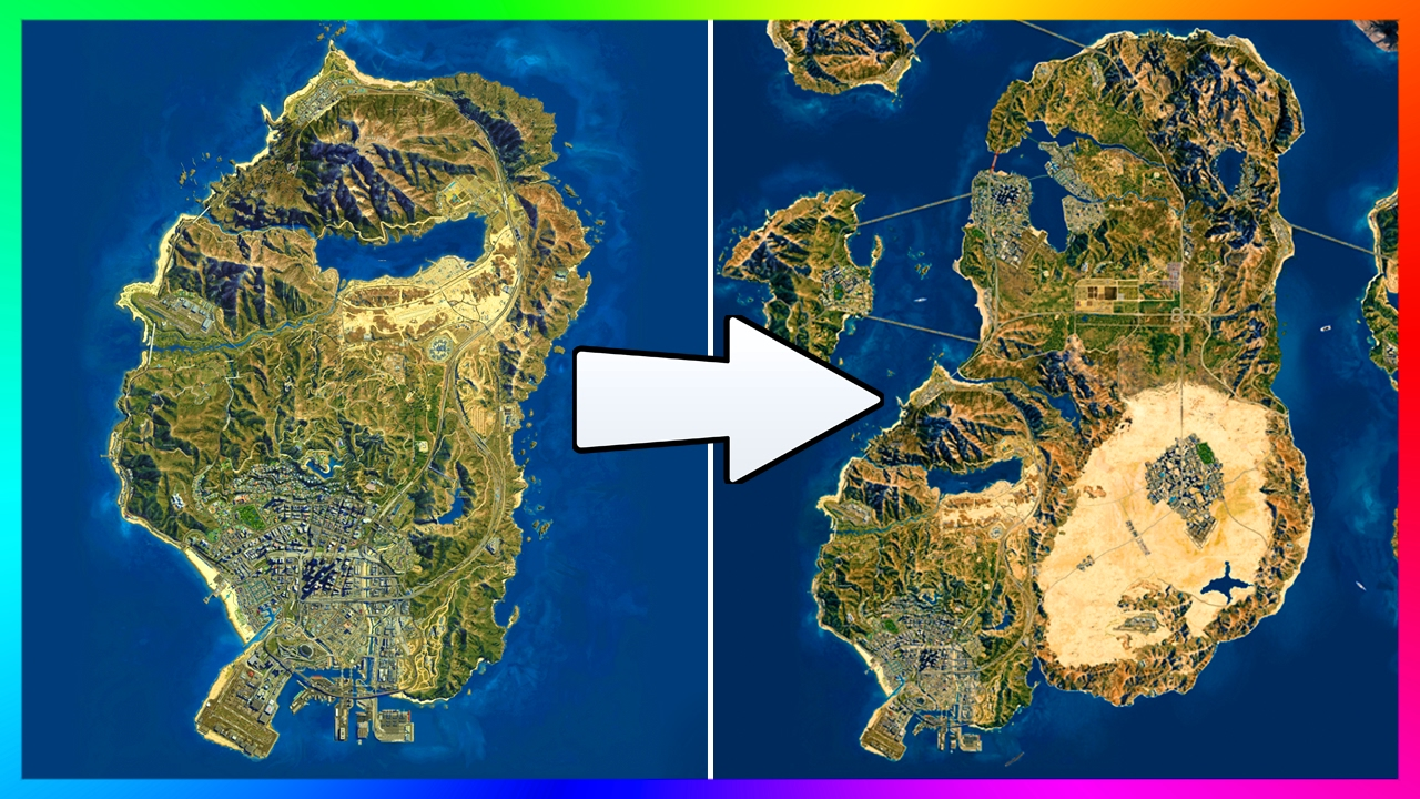 IS THE GTA 5 MAP TOO SMALL!?   WHY 90% OF THE GTA ONLINE MAP ISN'T