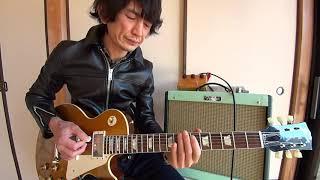 レッドツェッペリンの「貴方を愛しつづけて」の頭のギター部分と アドリブをやってみました。2013年ヒスコレゴールドトップです。 Used Ceriatone...