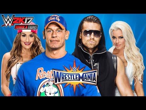 WWE 2K17 - WRESTLEMANIA 33: John Cena & Nikki Bella vs The Miz & Maryse