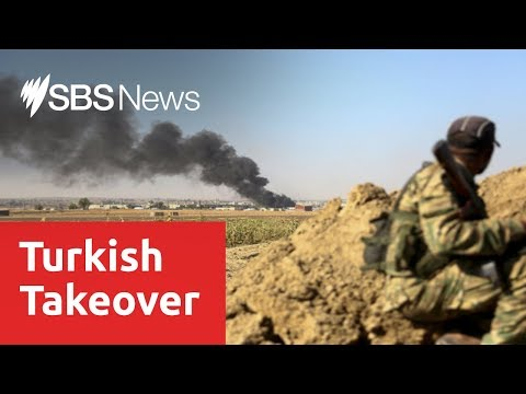 Turkish-led forces push into Syrian town as cross-border offensive continues