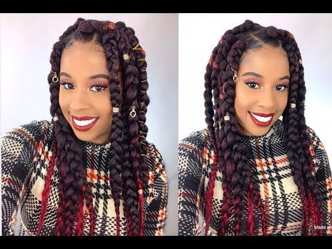Jumbo Box Braids/Using Afri-Naptural