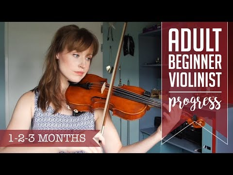 Adult beginner violinist | 1-2-3 months progress video
