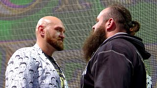 Tyson Fury and Braun Strowman break the scales: Crown Jewel media event, Oct. 30, 2019