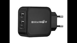 мощная зарядка blitzwolf на 2 4 ампера для телефонов и планшетов