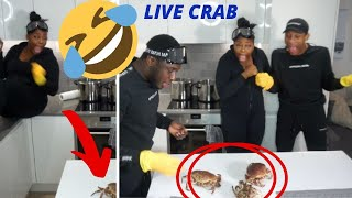 COOKING A LIVE CRAB + ONE FULLY TRIED TO ESCAPE FAM. NELLA'S KITCHEN EPISODE.1