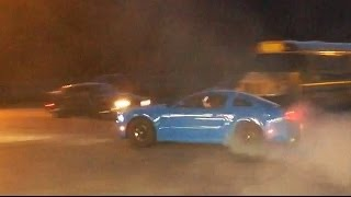 Smurrf Stang Does a Donut!