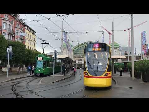 Tramway et bus BVB/BLT Basel [Suisse] le 16.septembre.2017
