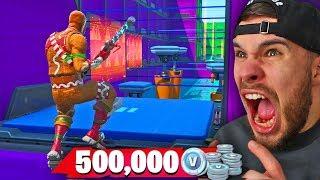 You'll get 500,000 Vbucks if you win the DEATHRUN! (Fortnite)