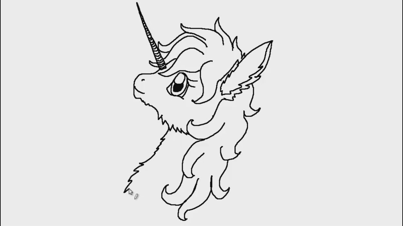 How to draw a unicorn with wings in stages 94
