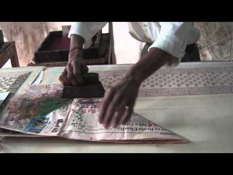 Learning Block Printing of Fabrics in Jaipur