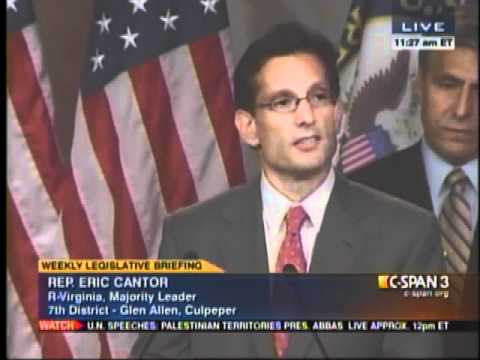 Majority Leader Eric Cantor Calls on Senator Reid to Stop Playing Politics with Disaster Relief