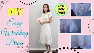 THE EASIEST DIY WEDDING DRESS