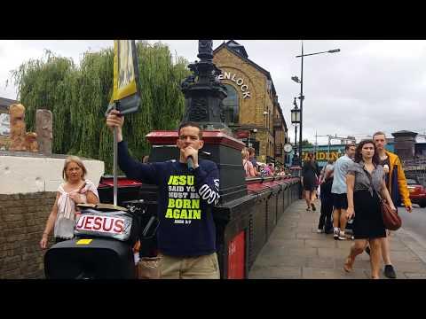 Ex-Homeless Preacher - Hell - Camden Town London 16-7-17. (1)