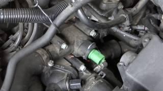 Škoda Octavia 1 - výměna čidla teploty chladící kapaliny + diagnostika závady pomocí VAG - COM