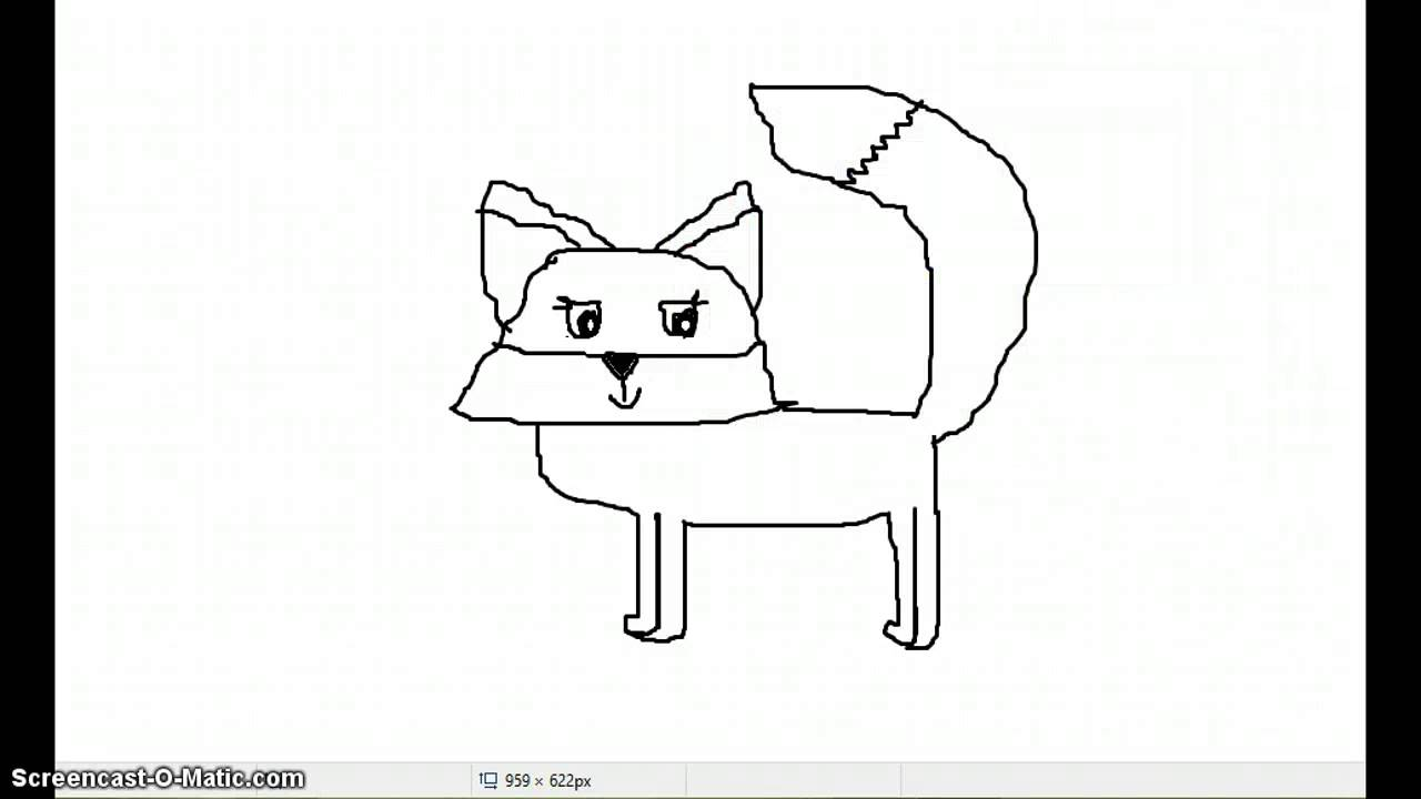 This is an image of Canny Animal Jam Fox Drawing