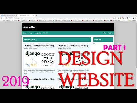How To Create Simple Website Layout With HTML And CSS  Part 1/3