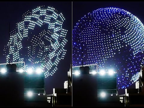 DRONE FORMED A GLOBE IN TOKYO 2021 OLYMPIC OPENING CEREMONY