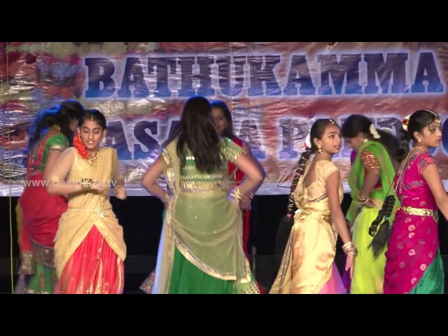 Bathukamma songs dance perfrmance at DATA Bathukamma & Dasara Celebrations 2016