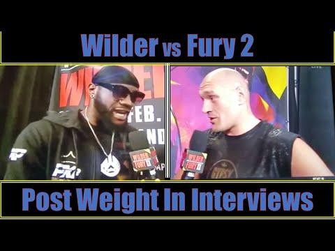 DEONTAY WILDER VS TYSON FURY POST WEIGHT IN INTERVIEWSиз YouTube · Длительность: 4 мин44 с