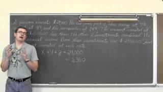 3 متغير نظم: معادلة القطع المكافئ بالنظر إلى 3 نقاط ، الاستثمارية كلمة مشكلة