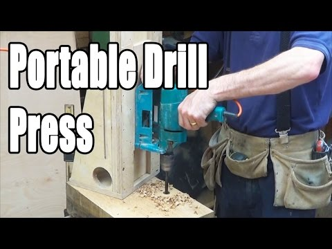 Timber Frame Portable Drill Press (home-made)