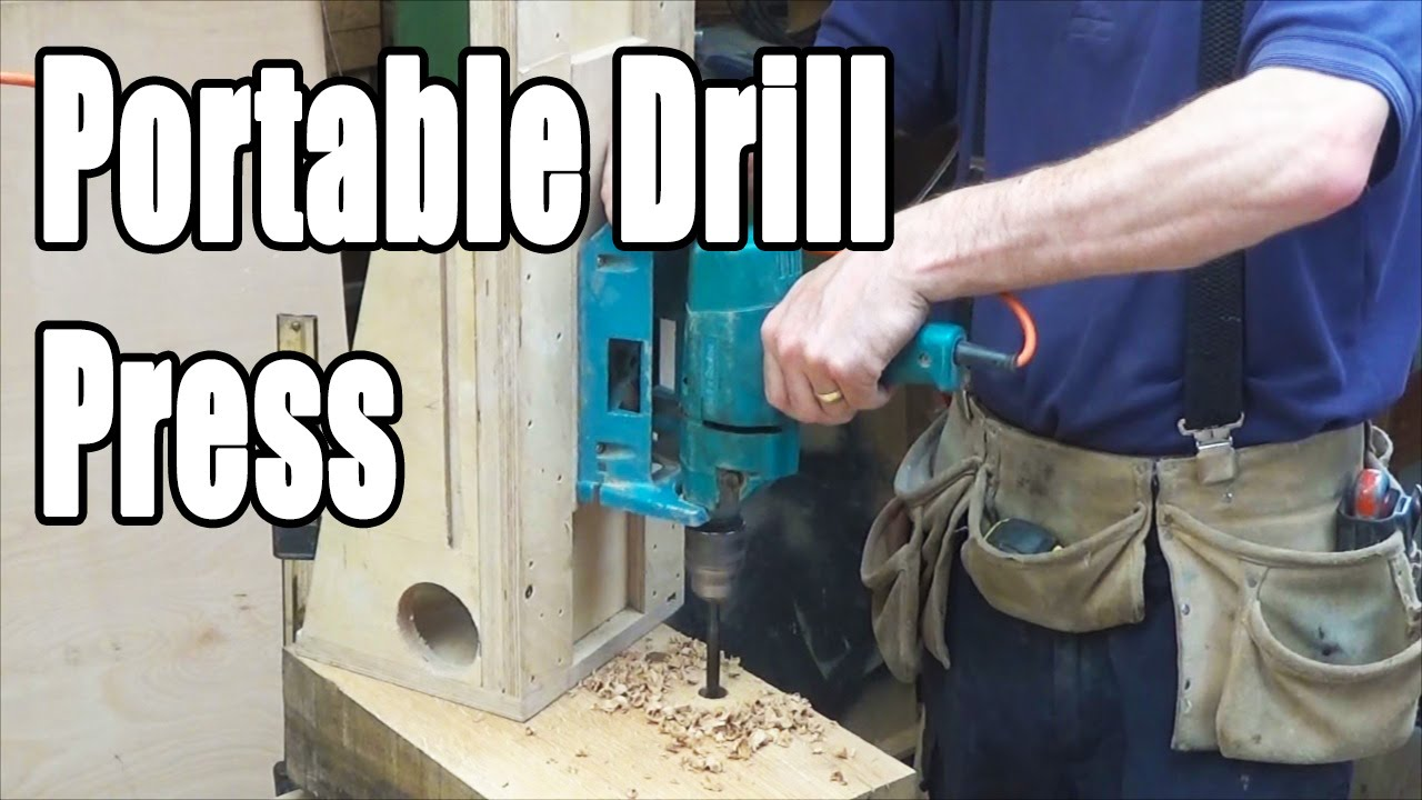 Timber Framing Portable Drill Press (home-made)