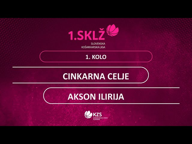 Cinkarna Celje : Akson Ilirija - 1. kolo - 1. Ž SKL - Sezona 2020/21 - 1/2