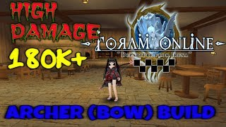 ARCHER BOW BUILD 99% CRIT AND HIGH DAMAGE 180K+! - Toram Online