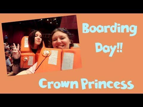 Boarding the Crown Princess Cruise Ship!! Caribbean Vacation Vlog [ep3]