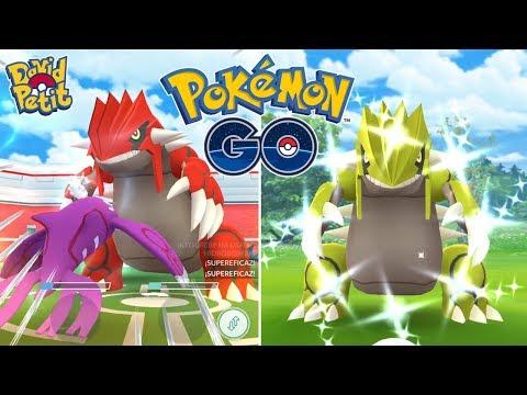 GROUDON ENTRE 3 JUGADORES CON RECOMPENSA SHINY! ¿SERÁ BUENO? [Pokémon GO-davidpetit]