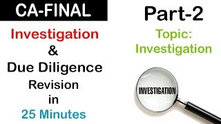 CA Final Audit | Investigation & Due Diligence (Part-2) | Revisionary Lecture
