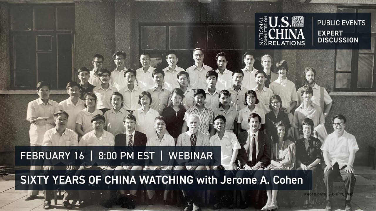 Sixty Years of China Watching   Jerome Cohen