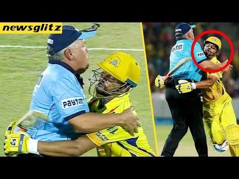 Suresh Raina Funny Moment with Umpire   CSK vs RR Match Highlights   IPL 2018