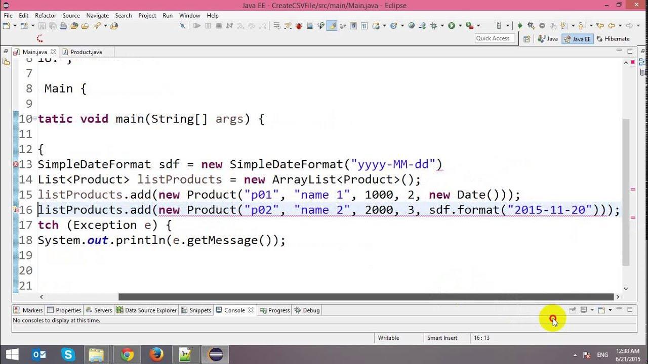 Write CSV Files in Java