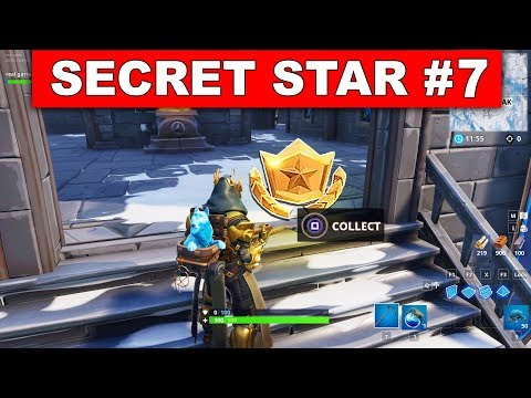 WEEK 7 SECRET BATTLE STAR SEASON 7 LOCATION! - Fortnite Battle Royale (Snowfall Challenges)