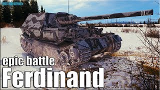 Лучший бой на ПТ-САУ Ferdinand World of Tanks