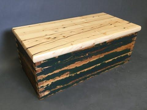 Rustic Mini Foot Locker - Storage Box from Reclaimed Wood - 2