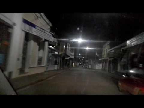 Paseo  nocturno por ciudad de  maldonado  uruguay
