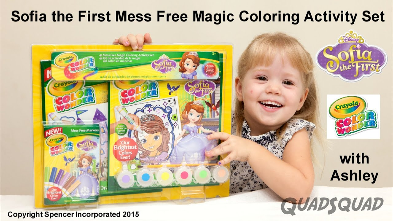 Sofia the First Mess Free Magic Coloring Activity Set - YouTube