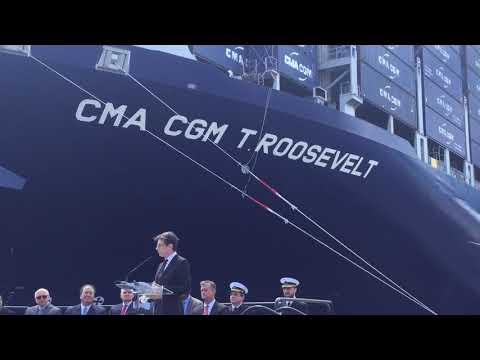 mr. Marc Bourdon, President CMA CGM Americas- Bayonne Bridge Opening,