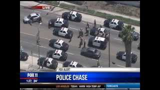 LA Police Chase Los Angeles Watts Compton LAX Century Silver Nissan Altima April 30, 2015 4/30/15