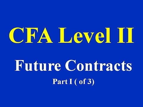 CFA Level II- Future Contracts- Part I ( of 3)